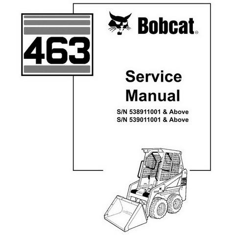 Bobcat 463 Skid-Steer Loader Repair Service Manual - 6903711