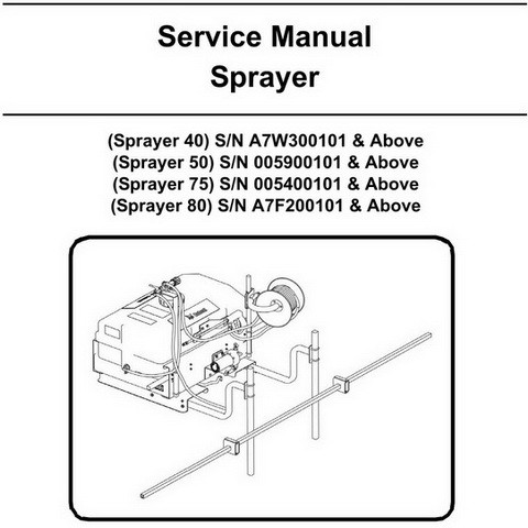 Bobcat 40-80 Sprayer Workshop Repair Service Manual - 6902775