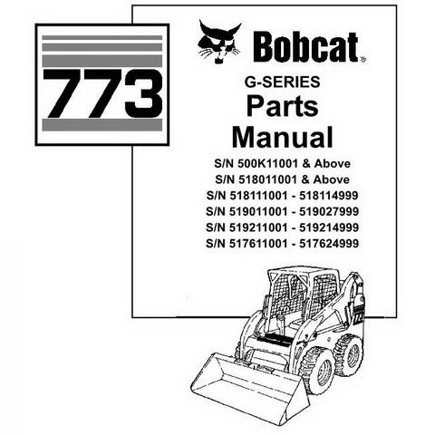 Bobcat 773 Skid-Steer Loader Parts Manual - 6900939
