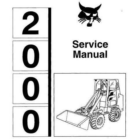 Bobcat 2000 Wheel Loader Repair Service Manual - 6566180