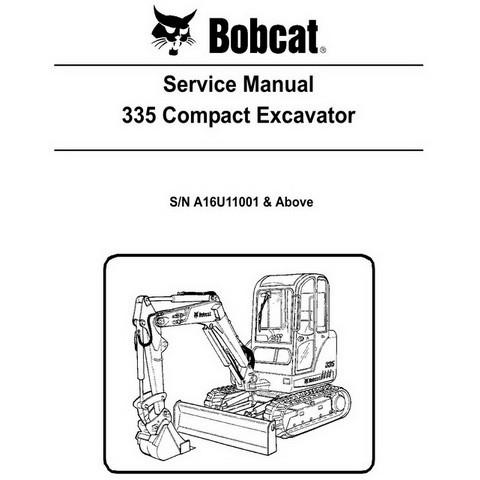 Bobcat 335 Compact Excavator Repair Service Manual - 6904775