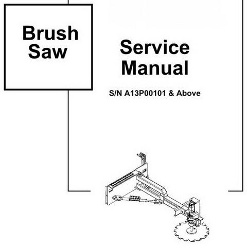 Bobcat Brush Saw Workshop Repair Service Manual - 6904204 (1-07)