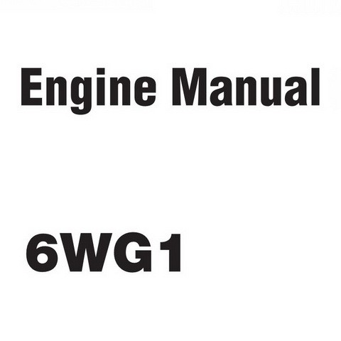 Hitachi 6WG1 Industrial Engines Workshop Repair Service Manual