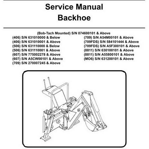 Bobcat Backhoe Workshop Repair Service Manual - 6904107