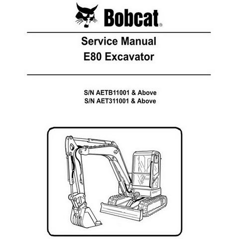 Bobcat E80 Compact Excavator Repair Service Manual - 6987194