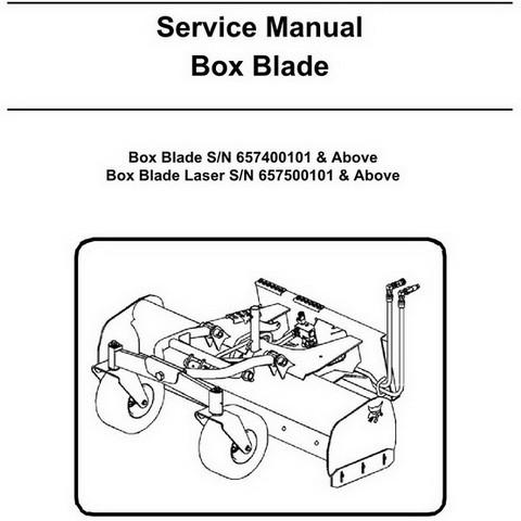 Bobcat Box Blade Workshop Repair Service Manual - 6901436