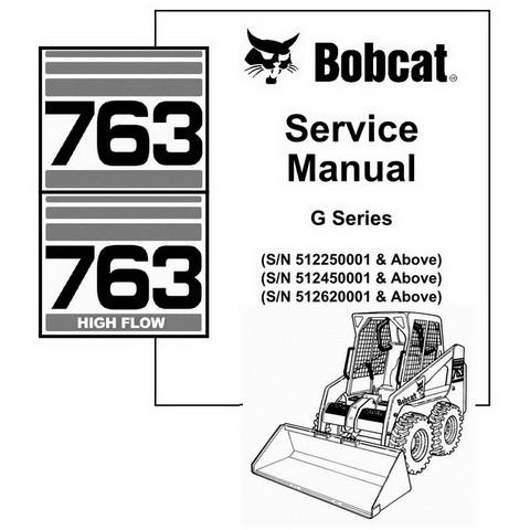 Bobcat 763/763H G-Series Skid-Steer Loader Repair Service Manual - 6900977