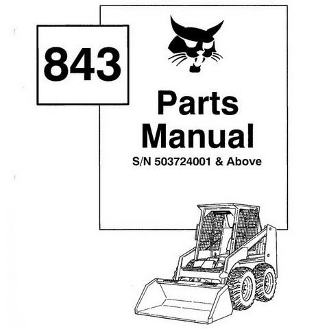 Bobcat 843 Skid-Steer Loader Parts Manual - 6570384