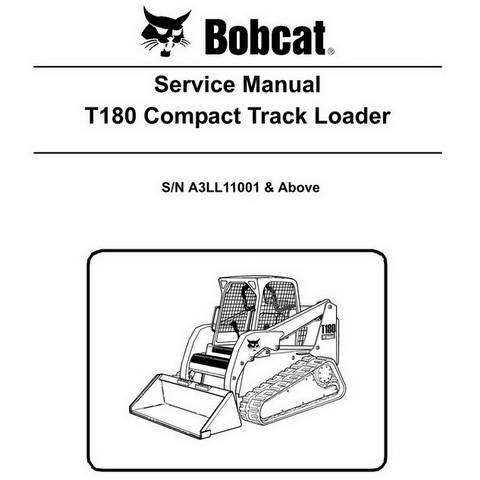 Bobcat T180 Compact Track Loader Repair Service Manual - 6987051