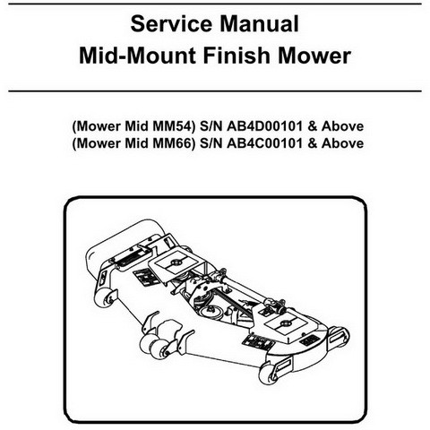 Bobcat Mid-Mount Finish Mower Workshop Repair Service Manual - 6986907