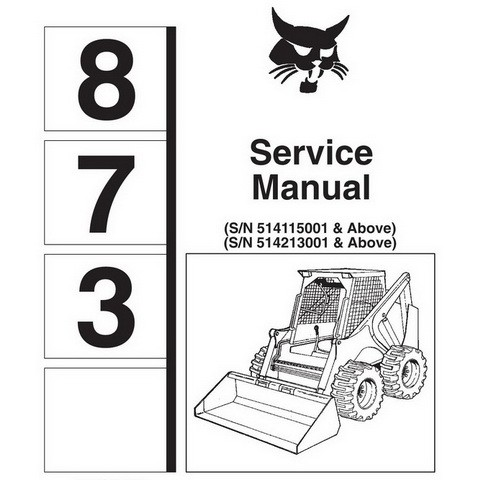Bobcat 873 Skid-Steer Loader Repair Service Manual - 6900382