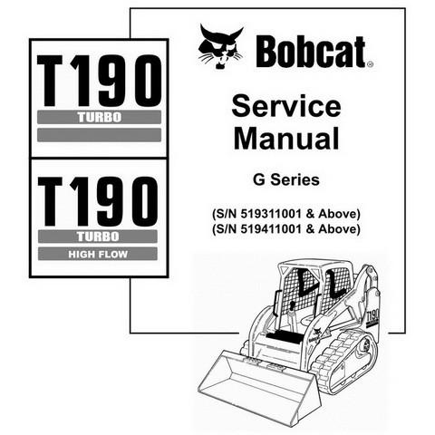 Bobcat T190 G-Series Compact Track Loader Repair Service Manual - 6901117