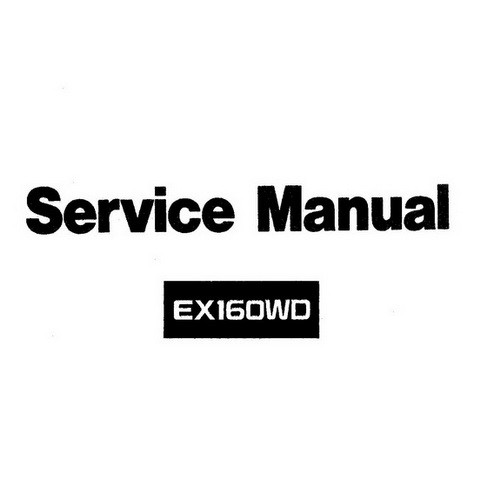Hitachi EX160WD Hydraulic Excavator Workshop Repair Service Manual