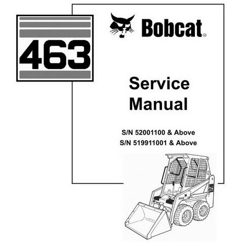 Bobcat 463 Skid-Steer Loader Repair Service Manual - 6901177