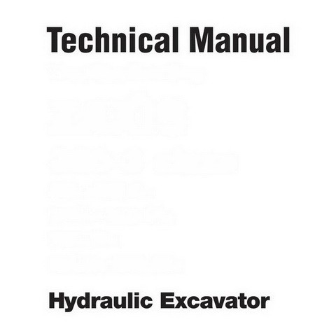 Hitachi EX750-5, EX800H-5 Crawler Hydraulic Excavator Repair Service Technical Manual
