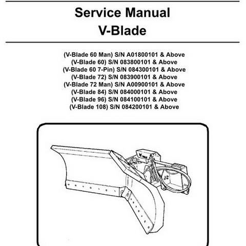 Bobcat V-Blade Workshop Repair Service Manual - 6902082
