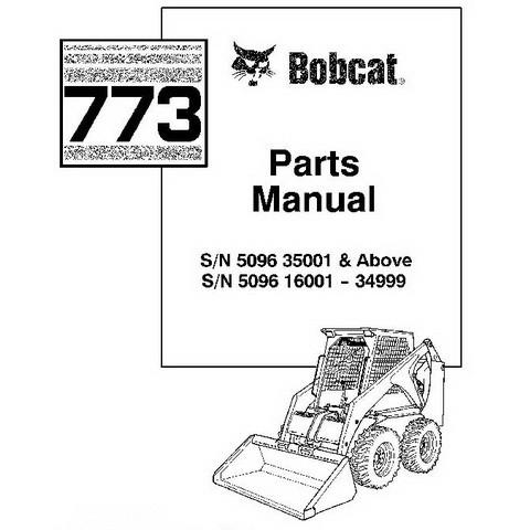 Bobcat 773 Skid-Steer Loader Parts Manual - 6724065