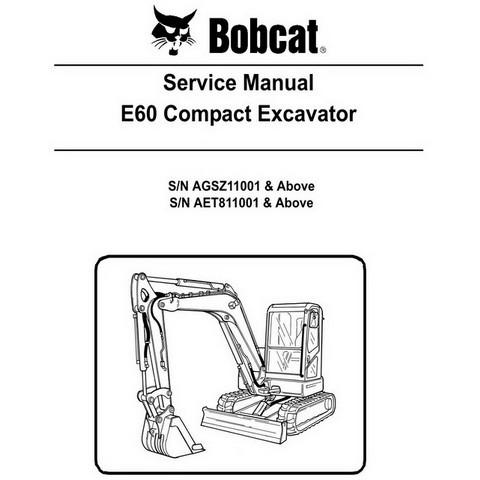 Bobcat E60 Compact Excavator Repair Service Manual - 6987190