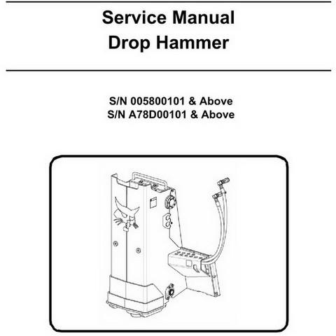 Bobcat Drop Hammer Workshop Repair Service Manual - 6902721