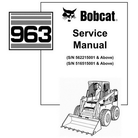 Bobcat 963 Skid-Steer Loader Repair Service Manual - 6900988