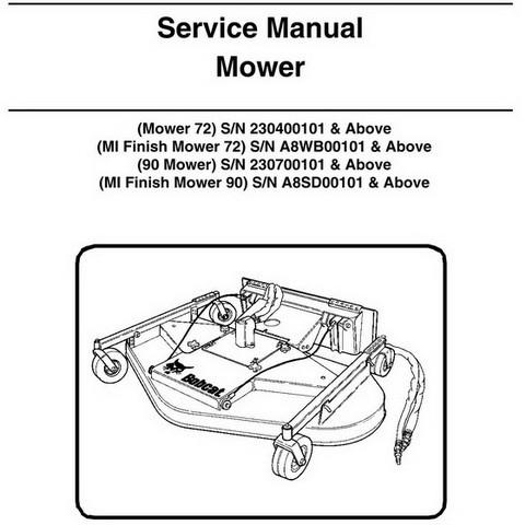 Bobcat 72-90 Mower Workshop Repair Service Manual - 6902088