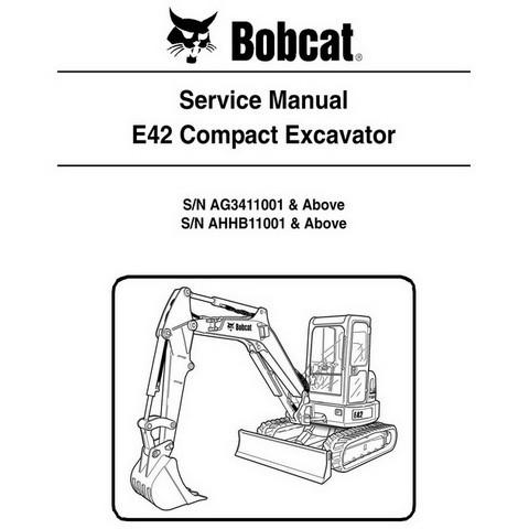 Bobcat E42 Compact Excavator Repair Service Manual - 6989433