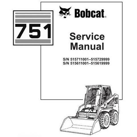 Bobcat 751 Skid-Steer Loader Repair Service Manual - 6900443