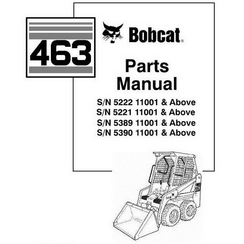 Bobcat 463 AF Skid-Steer Loader Parts Manual - 6902178