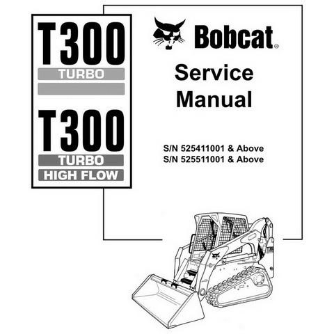 Bobcat T300 Compact Track Loader Repair Service Manual - 6902726