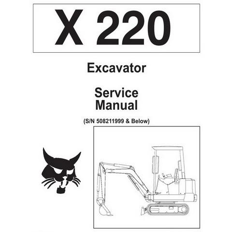 Bobcat X220 Excavator Repair Service Manual - 6720230