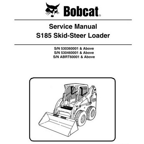 Bobcat S185 Skid-Steer Loader Repair Service Manual - 6987036