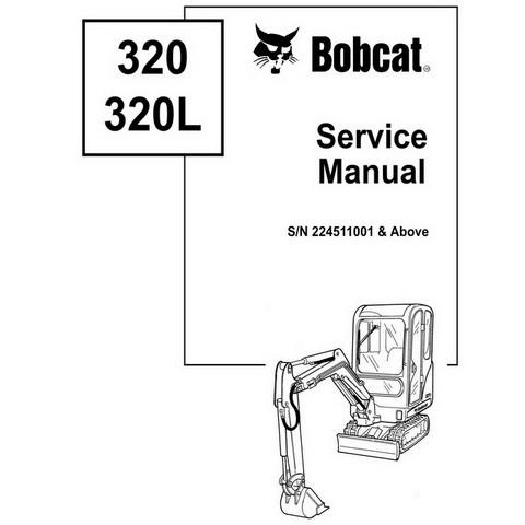 Bobcat 320, 320L Excavator Repair Service Manual - 6903818