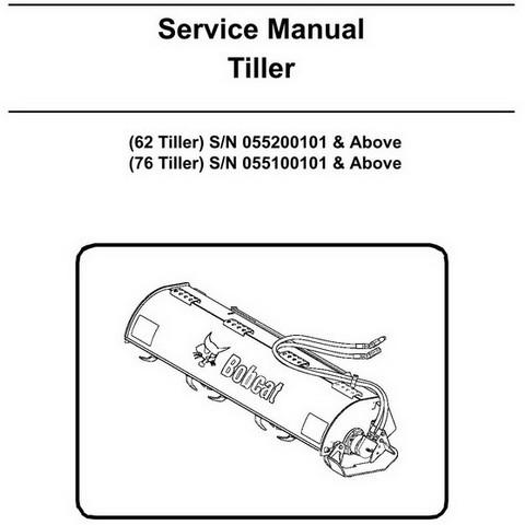 Bobcat 62 & 76 Inch Tiller Workshop Repair Service Manual - 6903130