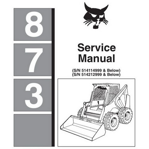 Bobcat 837 G-Series Skid-Steer Loader Parts Manual - 6900956