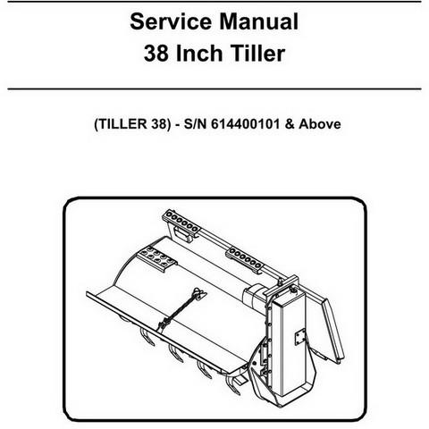 Bobcat 38 Inch Tiller Workshop Repair Service Manual - 6987116