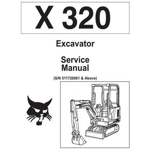 Bobcat X320 Excavator Repair Service Manual - 6722642