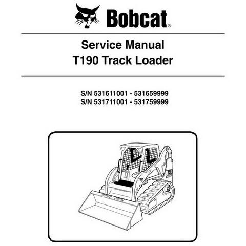 Bobcat T190 Compact Track Loader Repair Service Manual - 6904146