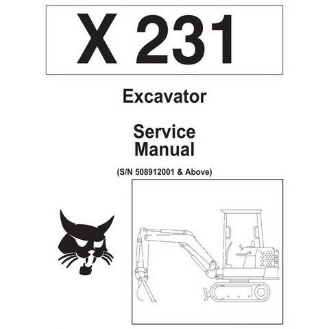 Bobcat X231 Excavator Repair Service Manual - 6722178