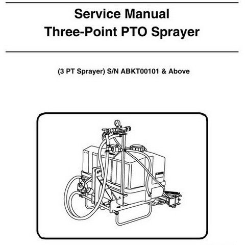 Bobcat Three-Point PTO Sprayer Workshop Repair Service Manual - 6987353