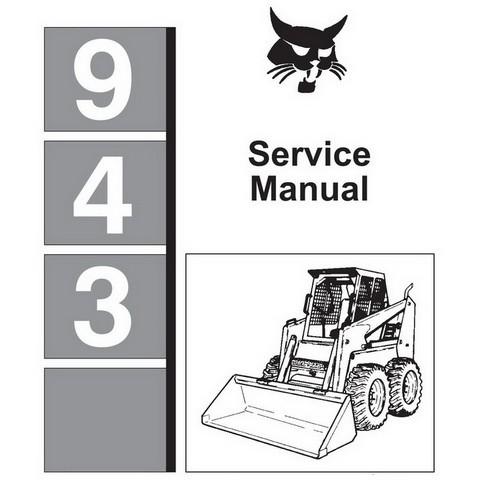 Bobcat 943 Skid-Steer Loader Repair Service Manual - 6570008