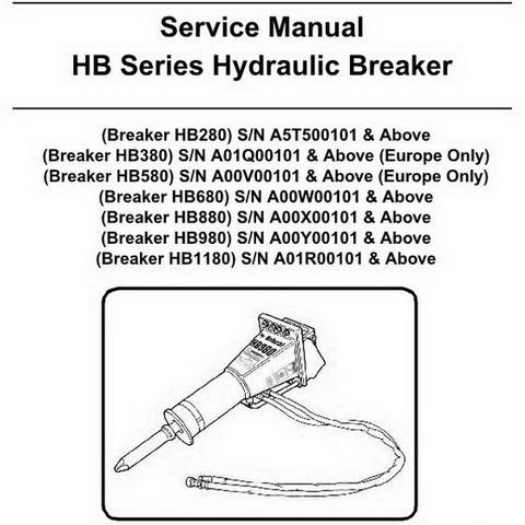 Bobcat HB Series Hydraulic Breaker Workshop Repair Service Manual - 6904105enUS