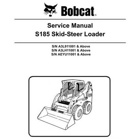 Bobcat S185 Skid-Steer Loader Repair Service Manual - 6987049