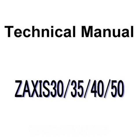 Hitachi ZX30, ZX35, ZX40, ZX50 Mini Excavator Technical Repair Service Manual