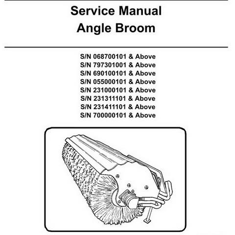 Bobcat Angle Broom Workshop Repair Service Manual - 6900895