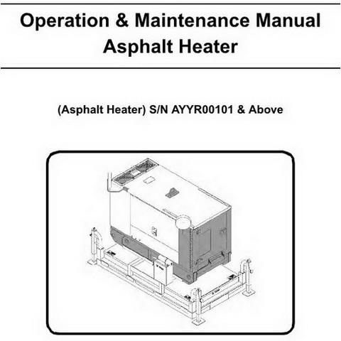 Bobcat Asphalt Heater Operation & Maintenance Manual- 6990458enUS
