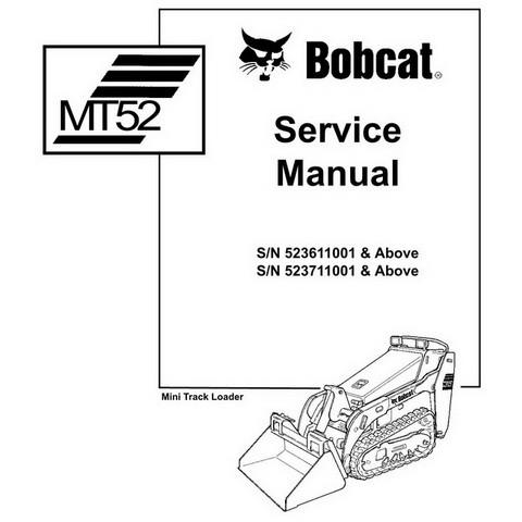 Bobcat MT52 Mini Track Loader Workshop Repair Service Manual - 6902525