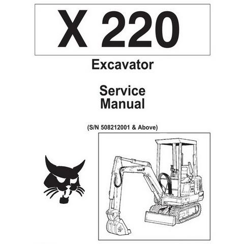 Bobcat X220 Excavator Repair Service Manual - 6720503