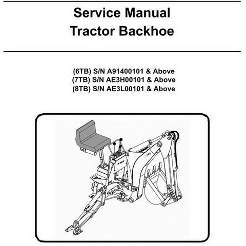 Bobcat 6TB, 7TB, 8TB Tractor Backhoe Workshop Repair Service Manual - 6986711