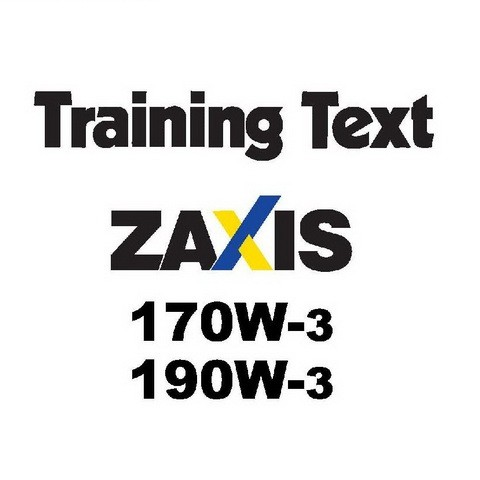 Hitachi ZX170W-3, ZX190W-3 Wheeled Excavator Training Text Repair Service Manual