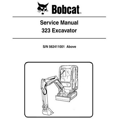 Bobcat 323 Excavator Repair Service Manual - 6903380